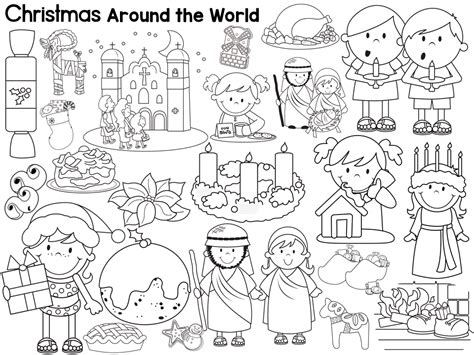coloring pages of christmas around the world christmas around the world coloring pages