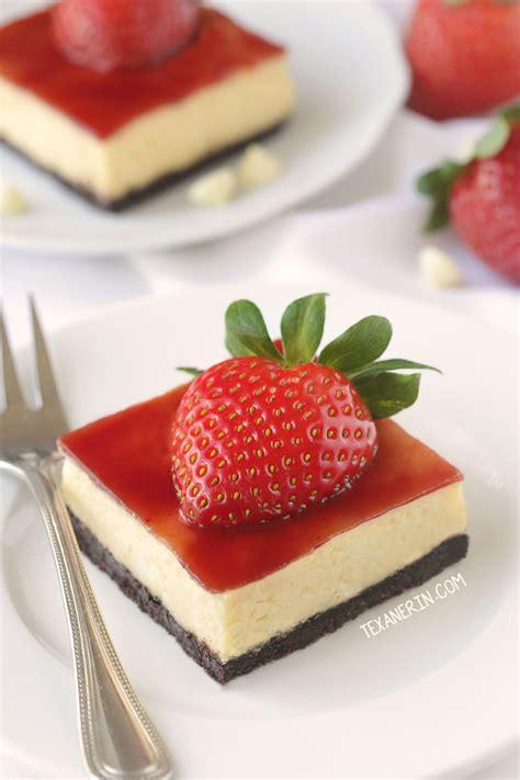 whole grain jam squares strawberry white chocolate cheesecake bars gluten free