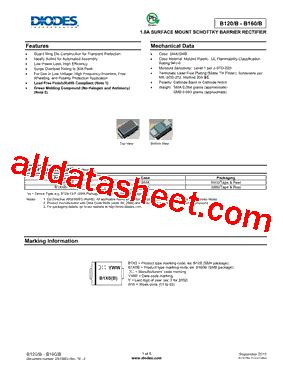 diodes inc b140 13 f b140 13 데이터시트 pdf diodes incorporated