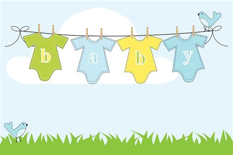 Baby Shower Background Clipart by Free Illustration Baby Boy Background Clothes Free