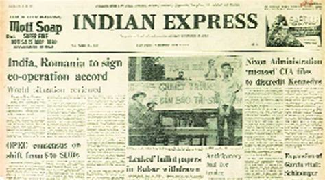 layout of indian express newspaper june 11 forty years ago sarkari soap the indian express