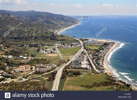Coast One 1 malibu aerial view pacific coast highway 1 looking east towards stock photo 35646863 alamy