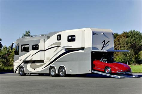 rv with car garage luxury high tech motorhome with car garage vogel talks rving
