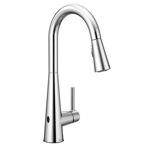 moen sleek touchless single handle pull  sprayer kitchen faucet  motionsense wave