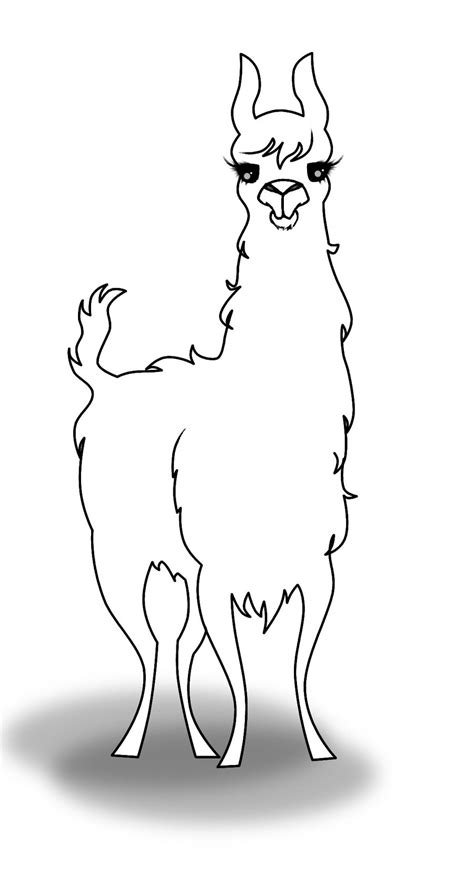 llama uncoloured by nuctameron on deviantart