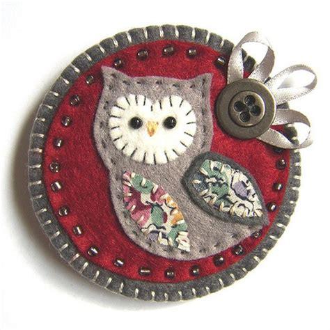 F6 Mshk 7 16 owl brooch cosas para ploquiti 펠트 머리 땋기 및 펠트 공예