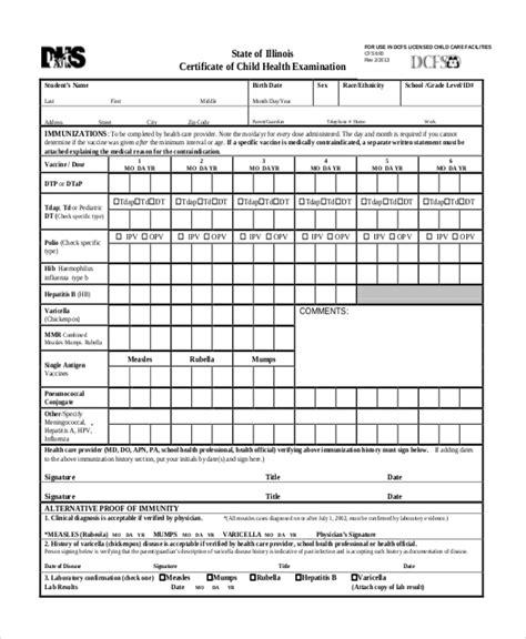 Sample Examination Form Examination sample health examination form 9 free documents in pdf