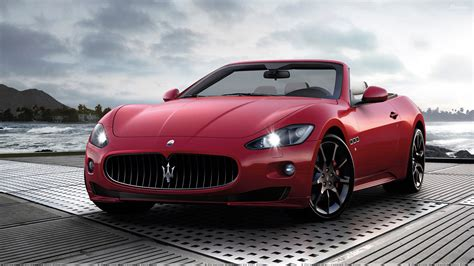 maserati red and 2012 maserati grancabrio sport in red color wallpaper