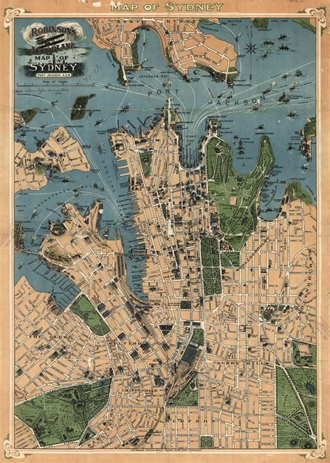 a map of sydney australia robinson s map of sydney australia 1922 sydney australia