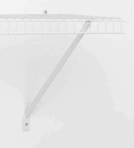Closetmaid 12 Shelf Closetmaid 12 Inch Shelf Support Brackets White 12 Pack
