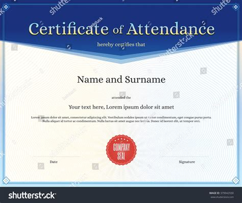 certificate of attendance conference template best sles templates