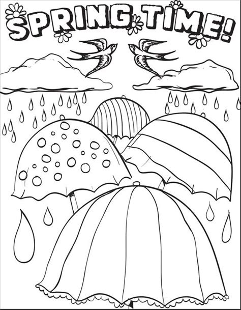 spring coloring pages printable ideas free printable spring time coloring page for kids