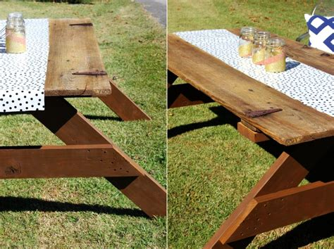Picnic Table Diy by Diy Picnic Table Made From Reclaimed Barn Door