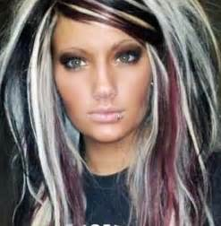 pictures of black hair with platinum highlights red black platinum highlights absolutely amazing