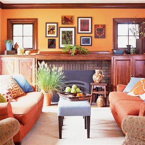 decoracion hogar naranja decorar con orange decoracion salas livingroom