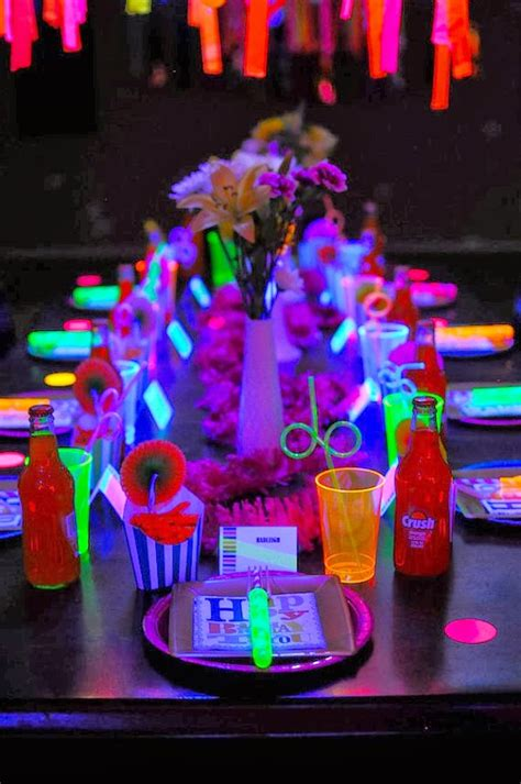 quinceanera themes glow in the dark neon party black light party glow in the dark party