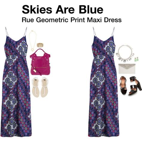 maxi gamis set 3 in 1 quot rue geometric print maxi dress quot by hanger731x on polyvore