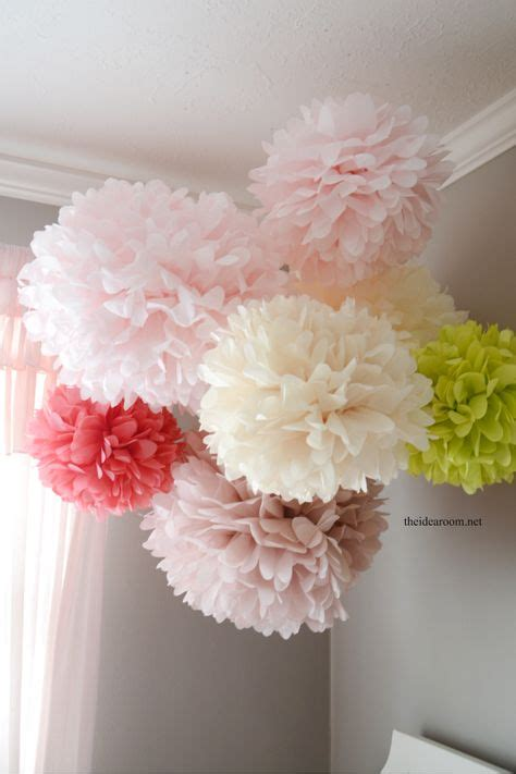 How To Make Large Paper Pom Poms - 1000 ideas about tissue paper poms on tissue