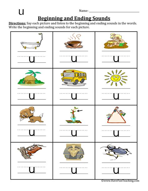 5 Letter Words Ending In U cvc worksheets teaching