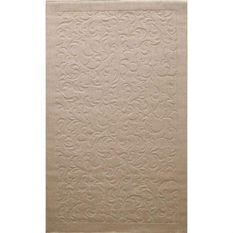 overstock rugs 3x5 nuloom solid floral scroll jute beige rug 4 x 6
