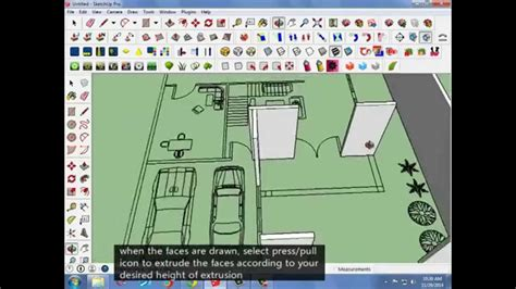 how to convert autocad 2d plans into sketchup 3d models