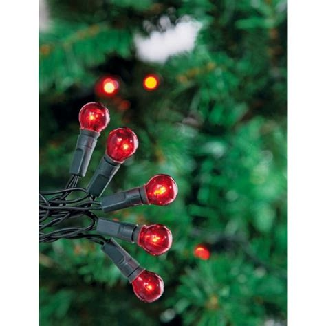 120 static christmas tree lights red berry christmas