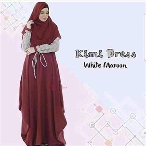 Grosir Murah Shakira Dress Wolfis busana muslim murah kimmy sr dress grosir baju muslim