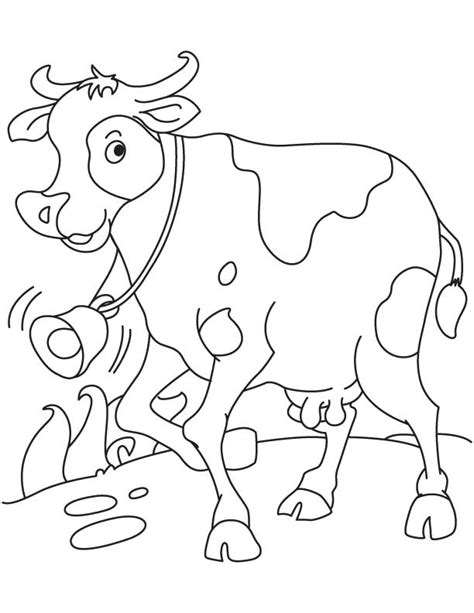 cow bell coloring page cow running coloring page download free cow running
