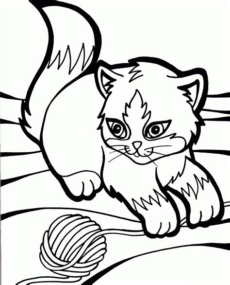 Free Printable Cat Coloring Pages For Kids Animal Place Picture For Colouring For