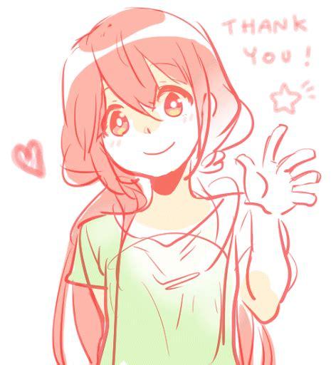 thank you text anime hair waving gif anime