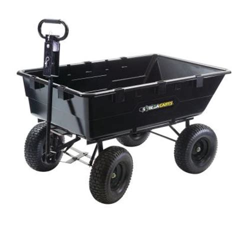 Home Depot Cart by Gorilla Carts 10 Cu Ft Plastic Dump Cart Discontinued