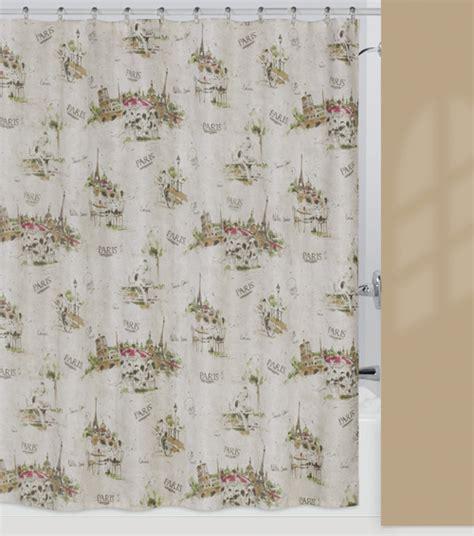 paris fabric shower curtain i love paris eiffel tower chic bathroom fabric shower