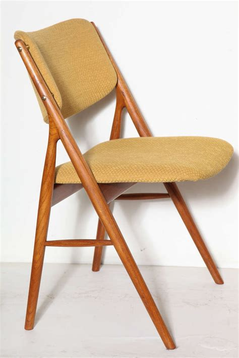 Teak Dining Chairs Upholstered Teak Upholstered Dining Chairs By Dokka At 1stdibs