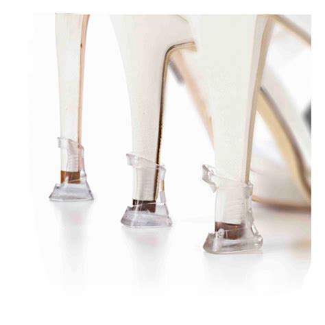 high heel protector caps 2pairs lot transparent high stiletto heeler protectors