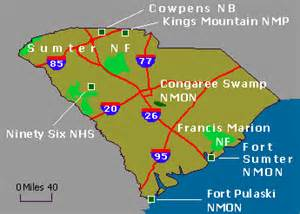 Sc State Parks Map by Wildernet Com South Carolina National Forests Amp Parks