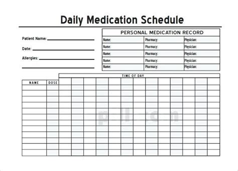 Google Daily Planner Free Daily Medication Schedule Pharmacist Schedule Template