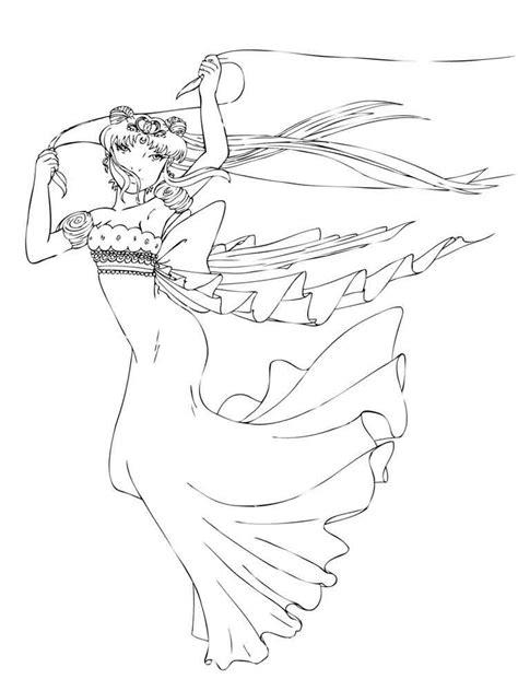 Princess Serenity Coloring Pages Free Printable Bprincess