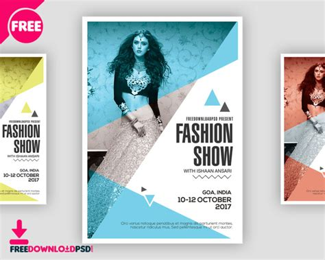 latest fashion show flyer freedownloadpsd com