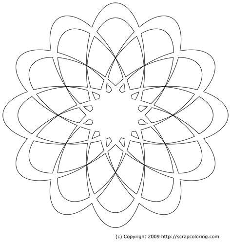rose window page coloring pages