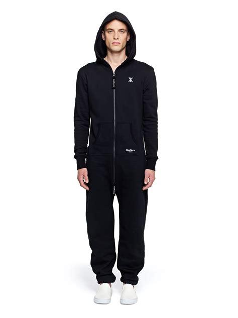 zip onesies onepiece original onesie in black with black zip