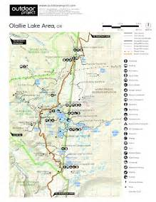 Oregon Campgrounds Map by Paul Dennis Campground Olallie Lake Camping In Oregon