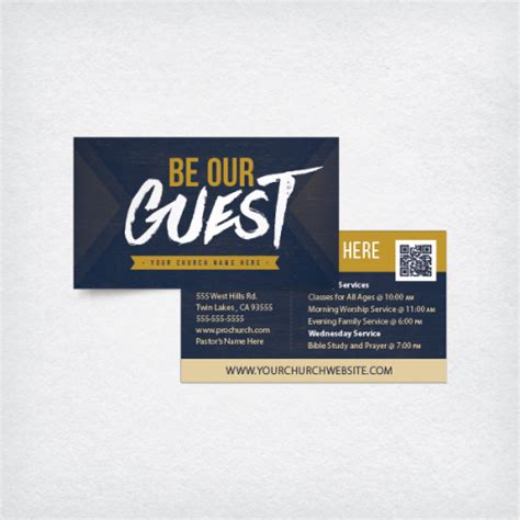church invite cards template mini church invite card 3 5x2 be our guest