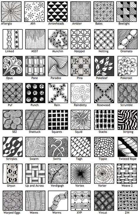 best 25 zentangle patterns ideas on zentangle