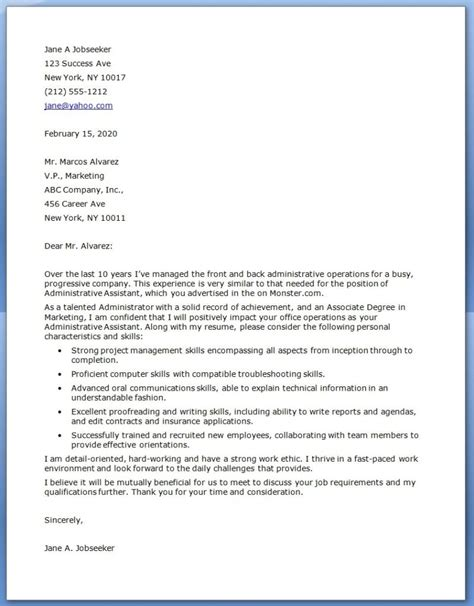 Cpver Letter Proper Executive Cover Letter Exles Letter Format Writing