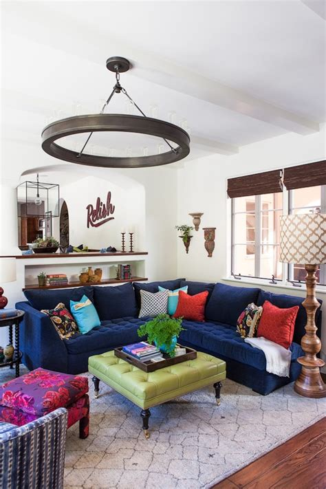 blue couch decorating ideas incredible blue velvet sofa decorating ideas
