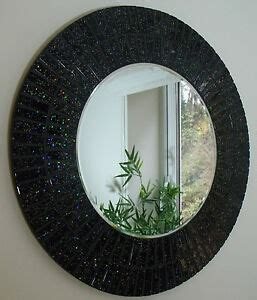 beautiful handmade glitter black sparkle mosaic bathroom