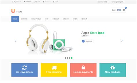 Bootstrap 3 Shopping Cart Template Free Templates Station Asp Net Ecommerce Templates