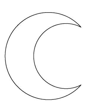 printable moon shapes crescent moon pattern use the printable outline for