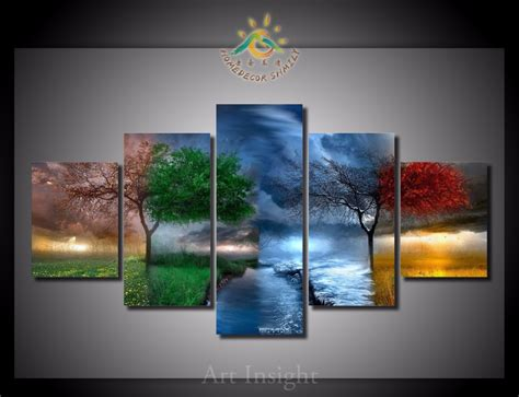 4 piece frameless colourful leaf trees canvas painting online get cheap tree seasons painting aliexpress com