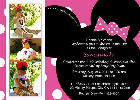 minnie mouse birthday invitation templates free 6 best images of minnie mouse invitation template minnie